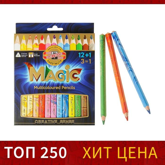 Карандаши Koh-I-Noor Magic 3408, с многоцветным грифелем, 13 штук