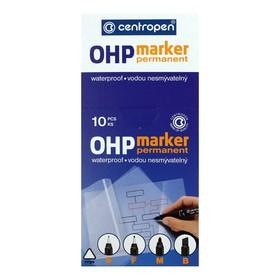 Маркер Centropen 2636 для OHP, перманентный, 0.6 мм, синий