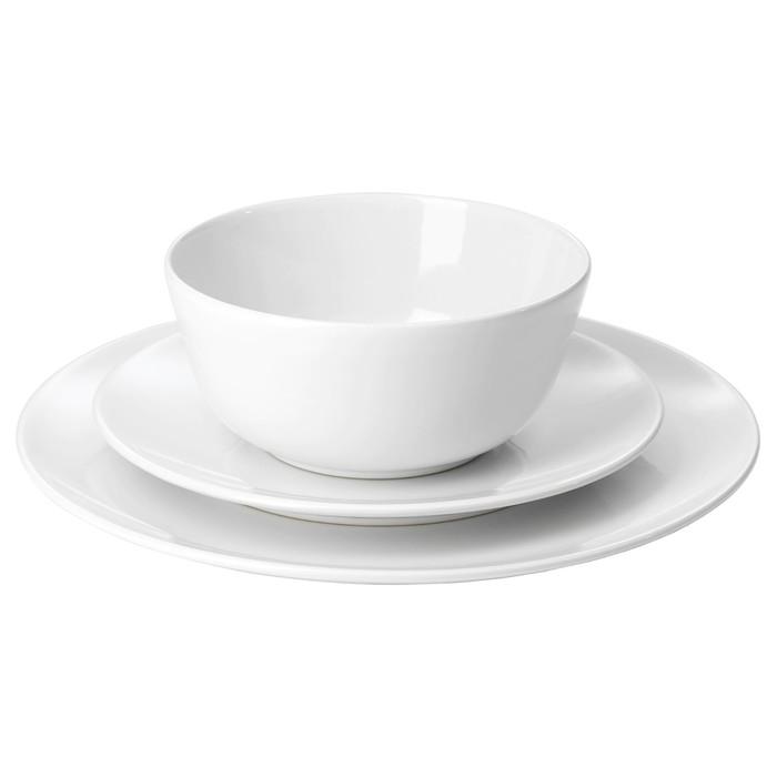 Сервиз ФЛИТИГХЕТ,18 предметов, белый