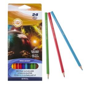 "Pencils Koh-I-Noor ""Space Odyssey"" 3654/24, 24 colors."