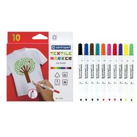Маркер для ткани, Centropen 2739, 1.8 мм, набор 10 цветов