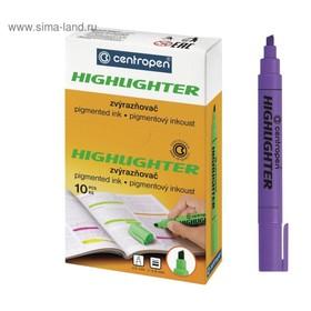 Маркер-текстовыделитель 4.6 мм Centropen 8852 флуоресцентный фиолетовый