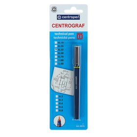 Рапидограф Centropen 9070, 0,35 мм, желтый