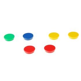 Магниты для досок 30 мм, 6 штук, Centropen, цветные