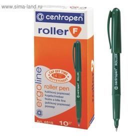 Ручка-роллер, 0.5 мм, Centropen 4615, чёрная, невысыхаемая, длина письма 2200 м, картонная упаковка