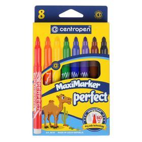 Фломастеры 8 цветов Centropen 8610/08 Perfect, картонная упаковка, европодвес, линия 2.5 мм