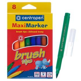 Фломастеры-кисть 8 цветов, Centropen 8773 Brush, 5.0 мм, картонная упаковка
