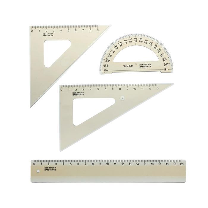 Набор геометрический малый Koh-I-Noor, прозрачный - фото 2126496