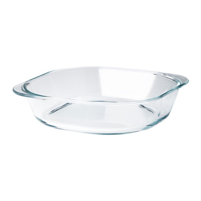Форма для духовки, прозрачное стекло ФОЛЬСАМ
