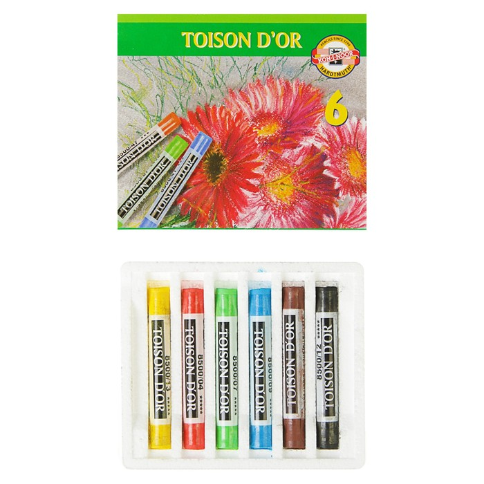 Пастель сухая художественная TOISON D`OR 8511/06, 6 цветов