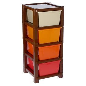 Комод 4 секции, разноцветный Ош