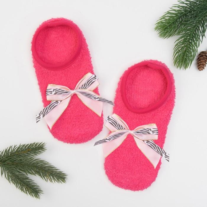 Носки женские укороченные со стоперами KAFTAN розовые, 23-25 см, 100% п/э