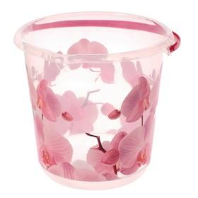 Ведро «Деко. Орхидея», 3 л, цвет розовый/прозрачный