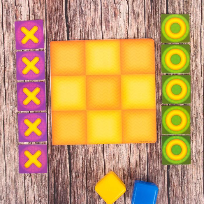 Логическая игрушка крестики-нолики для детей, 10 деталей