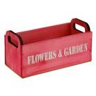 """Ладья """"Flowers"""" 24,5 х 11 х 11,5 см, фуксия"""