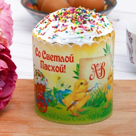 Пасхальный Пластиковый ободок для кулича «Цыплята», 32,2 х 9 см