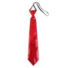 """Карнавальный галстук """"Блеск"""" на резинке, цвет красный"""
