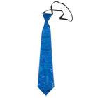 """Карнавальный галстук """"Блеск"""" на резинке, цвет синий"""