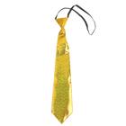 """Карнавальный галстук """"Блеск"""" на резинке, цвет золотой"""