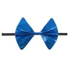 """Карнавальная бабочка """"Блеск"""" на резинке, цвет синий"""