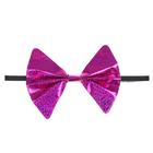 Carnival butterfly Glitter elastic, color fuchsia