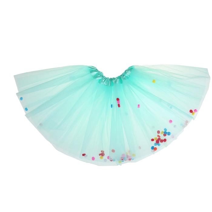 Карнавальная юбка «Шарики», цвет бирюзовый - фото 452229