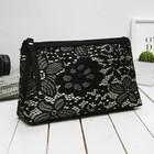 Косметичка-сумочка на молнии, 1 отдел, ручка, цвет чёрный
