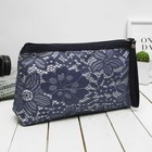 Cosmetic bag-handbag Department with zipper, with handle, blue color