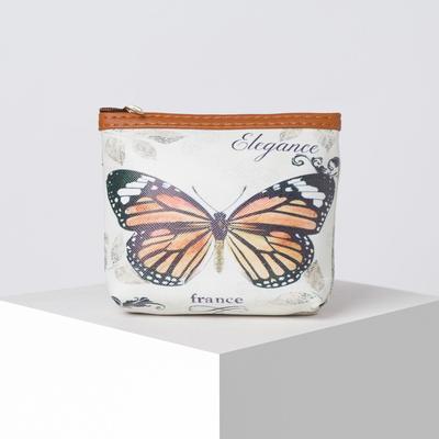 Purse female zipper, 1 Department, brown/multicolored
