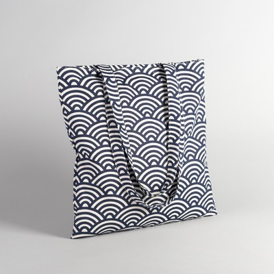 "Textile bag ""Ornament"", Department zip, no padding, color milk"
