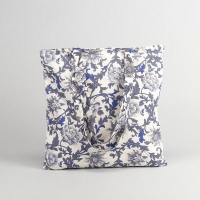 Textile bag Bouquet 37*1*38 Department zip, no padding, milk