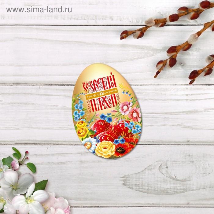Открытки мини формовые «Со светлой Пасхой», русские цветы, 7 х 10 см