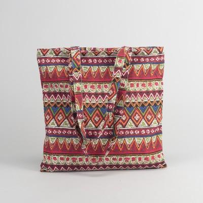 Bag textile Ornament 37*1*38 Department zip, no padding, red