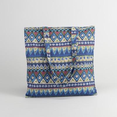 Bag textile Ornament 37*1*38 Department zip, no padding, blue