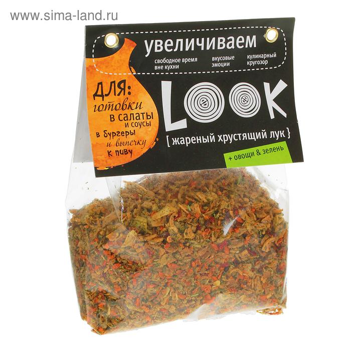 Лук жареный  с овощами и зеленью 200 гр.