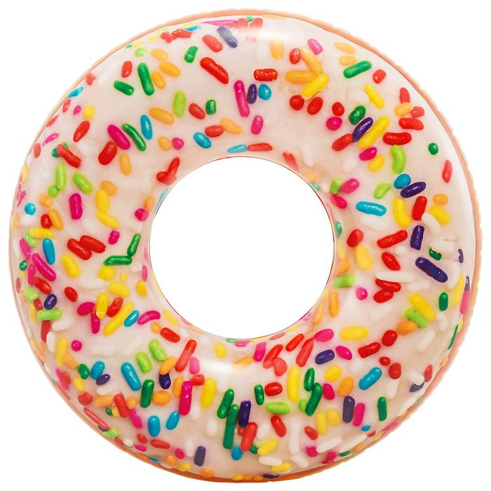 Круг для плавания «Пончик радужный», d=99 см, от 9 лет, 56263NP