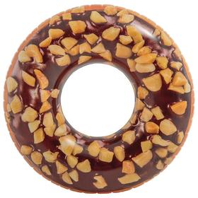 Круг для плавания «Пончик», шоколадный, d=114 см, от 9 лет, 56262NP INTEX