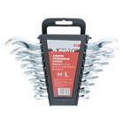 Набор ключей рожковых MATRIX, 6 х 22 мм, 8 шт., CrV, хромированные