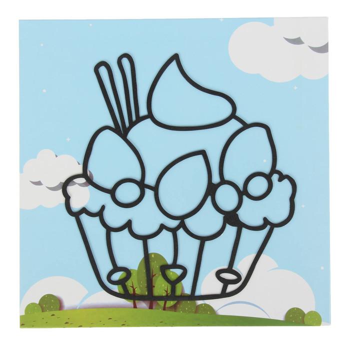 """Аппликация шариковым пластилином """"Веселье №6"""" 8 цветов по 4 гр, подставка, стразы"""