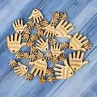 Набор бирок «Hand made», ладошки, 30 мм - 6 шт; 25 мм - 6 шт; 15 мм - 27 шт