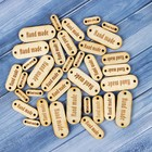 Набор бирок «Hand made», таблички, 40х15мм - 9шт; 30х10 мм - 15шт;18х7 мм - 12 шт