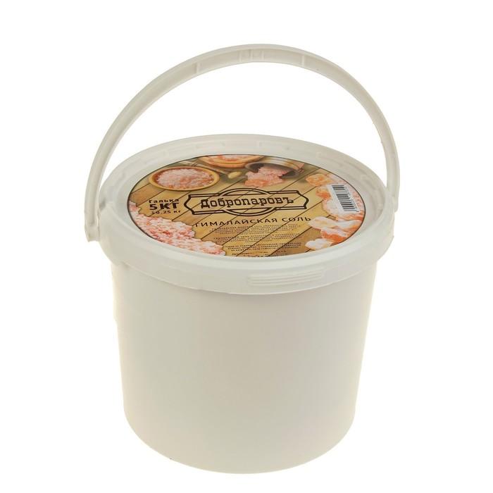 """Гималайская соль """"Добропаровъ"""", розовая, галька, 50-120 мм, 5 кг"""