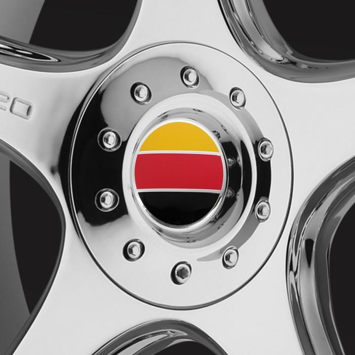 Наклейка на колпачок автомобильного диска Grm, 56 мм, набор 4 шт.