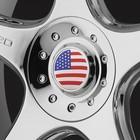 Наклейка на колпачок автомобильного диска USA, 56 мм, набор 4 шт.