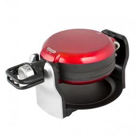 Вафельница GEMLUX GL-WM-888R, 1800 Вт, венские вафли, антипригарное покрытие, чёрно-красная