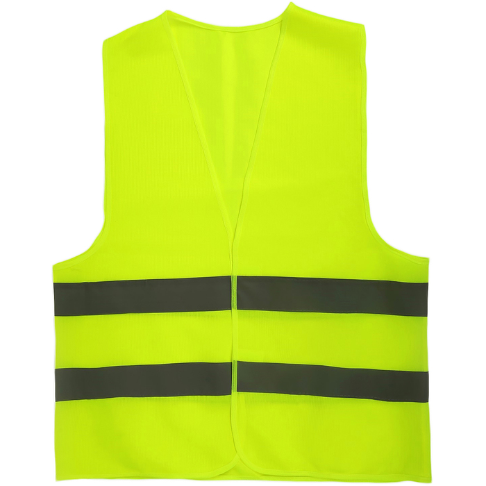Жилет светоотражающий Ж1, текстильный, жёлтый, размер XL
