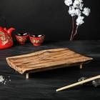 Подставка-поднос для суши, массив дуба, 30 х 15 см