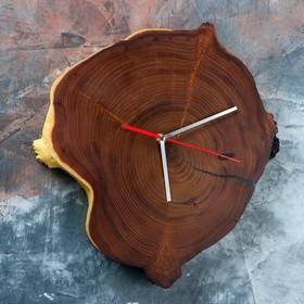 "Часы настенные ""Спил оливы"", 35 х 30 см, микс"