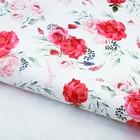 """Бумага упаковочная глянцевая """"Розы"""", 100х70 см"""