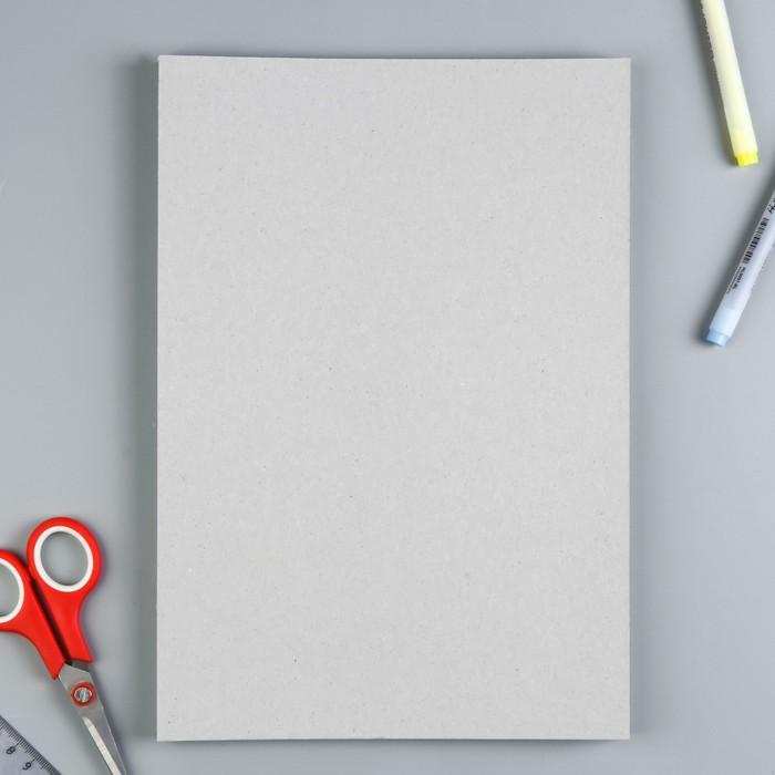 Набор переплетного картона для творчества (10 листов) 21х30 см, толщина 1 мм(серый)
